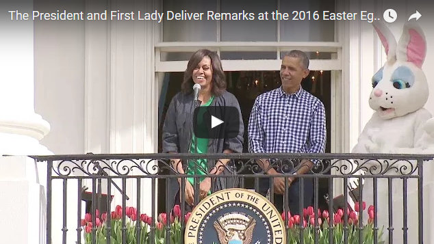 The President and First Lady at the 2016 Easter Egg Roll